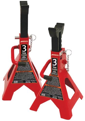 Nesco Tools (952A) Double Locking Jack Stand - 3 Ton Capacity (Nesco Jack)