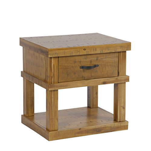 American Furniture Classics Model 521 Wood End Table/Night Stand With One Drawer And One Concealed Pistol - Wood Nightstand Drawer