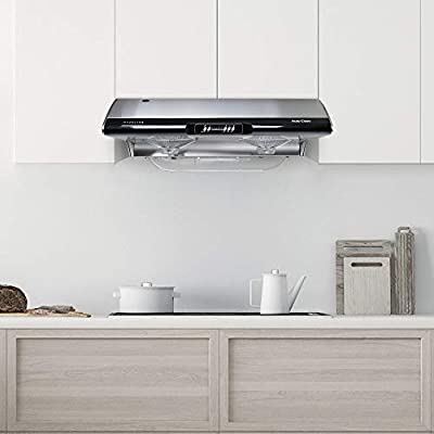 Kitchen Stove Vent with Led Light Stainless Steel 30 In Under Cabinet Stainless Steel Range Hood Super Suction 950 Cfm Touch Screen 3 Speed Exhaust Reusable Filter Range Hoods Appliances Fcteutonia05 De