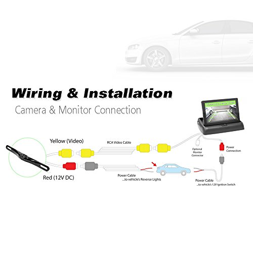 """Pyle Car Camera System & Lines, Waterproof, Night Pop-up Display, 4.3"""" LCD Video Vehicles"""