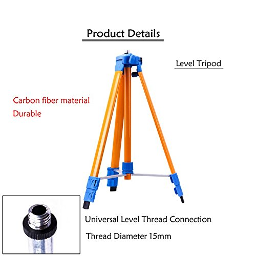 Carbon fiber 22-59in Adjustable & Level dedicated telescopic & Threaded flat head Tripod Φ=3⁄5
