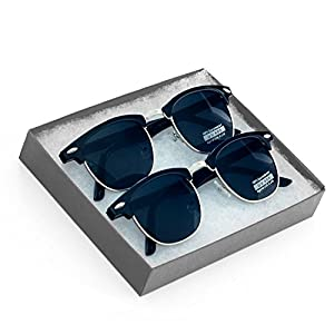 Vintage Inspired Classic Half Frame Horned Rim Retro Classic Sunglasses