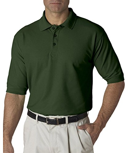 UltraClub Mens Whisper Pique Polo 8540 - Forest Green_L
