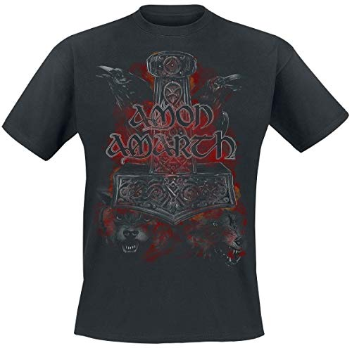 And Manches shirt T Amon Crows Wolves Noir Courtes Amarth gwpqYxE