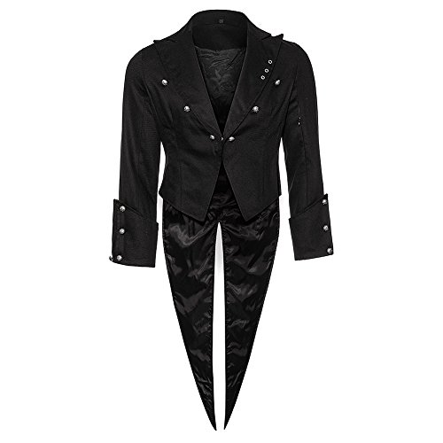 Bleeding Heart Tail Jacket - Large, Black - Heart Satin Jacket