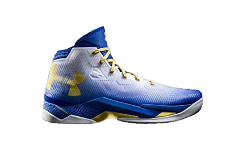 Under Armour Men's UA Curry 2.5 White/Team Royal/Taxi Ath...