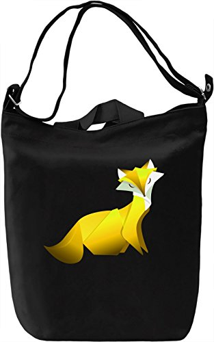 Yellow Fox Borsa Giornaliera Canvas Canvas Day Bag| 100% Premium Cotton Canvas| DTG Printing|