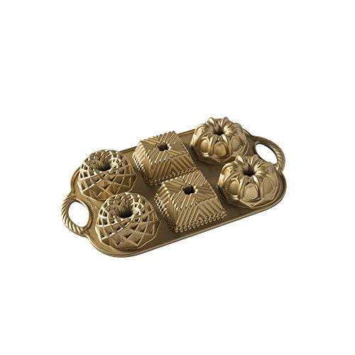 Nordic Ware 91277 Geo Bundtlette Pan, One Size, Gold