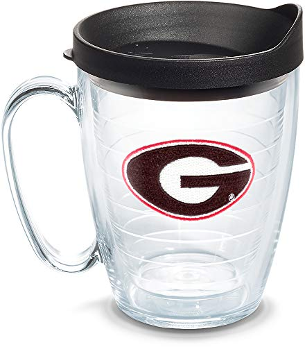 ia Bulldogs Logo Tumbler with Emblem and Black Lid 16oz Mug, Clear ()