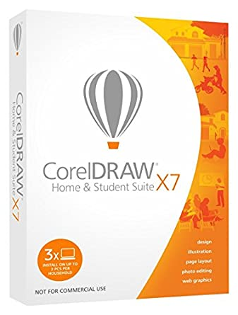 Corel CorelDRAW Home and Student Suite X7 (3-Users) (Old Version)