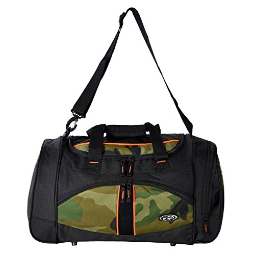 """Olympia Heavy Duty Nomad Camouflage 25"""" Sports Duffle Duffel Tote Bag Travel Gym"""