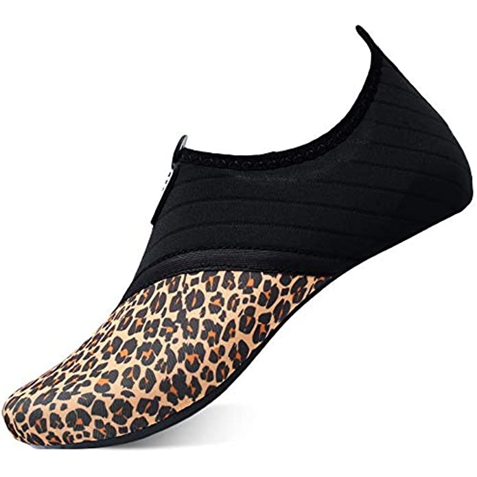 QACOHU Womens Mens Water Shoes Barefoot Skin Shoes Quick-Dry Water Shoe for Dive Surf Swim Beach Yoga
