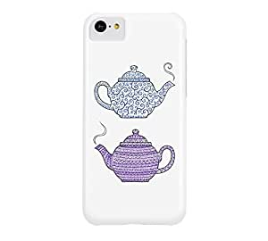 Patterned Teapots iPhone 5c White Barely There Phone Case - Design By Humans