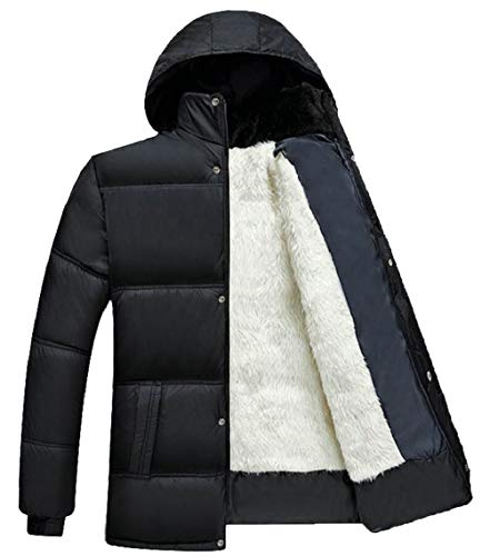 Down Coat Quilted Men's 3 Jacket Lined Thickened Cotton Casual Padded Hooded Gocgt zwTqSv