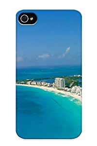 Fashion Protective Blue Nature Cityscapes Buildings Seascapes Cancun Case Cover Design For Iphone 4/4s