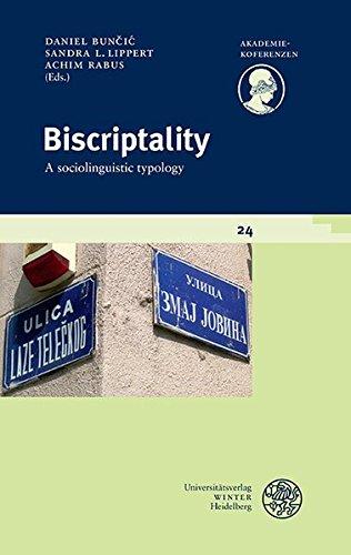 Biscriptality: A sociolinguistic typology (Akademiekonferenzen)