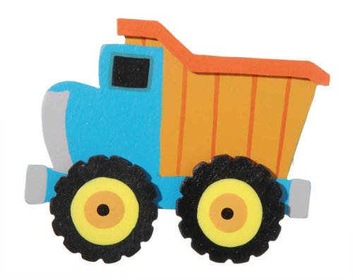 Darice 9199-15 Layered Natural Painted Wood Cutout, Dump Truck (Painted Shape Layered)