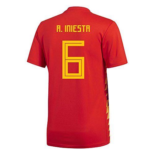 adidas A. Iniesta #6 Spain Home Men's Soccer Jersey World Cup Russia 2018 (S)