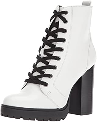 2cce09f541d Steve Madden Women's Laurie Ankle Bootie, White Leather, 10 M US ...