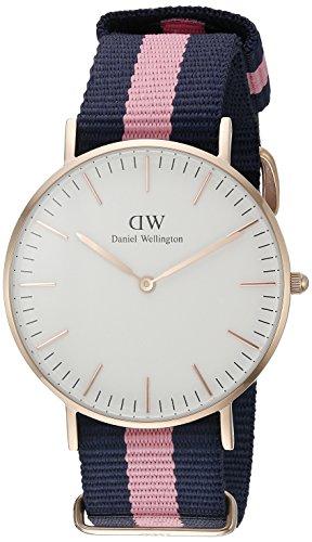 Daniel-Wellington-0505DW-Reloj-con-correa-de-acero-para-mujer-color-blanco-gris