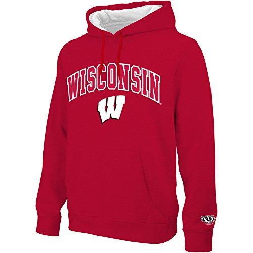 nsin Badgers Hoodie Sweatshirt Gridiron Red - L - Dark red ()