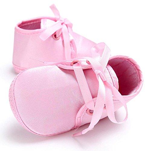 Hunpta Babyschuhe jungen Mädchen Neugeborenes Krippe weiche Sohle Schuhe Sneakers (Alter: 6 ~ 12 Monate, Rosa)