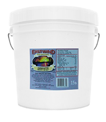 East Wind Smooth Natural Almond Butter No Salt 15lb. Tub