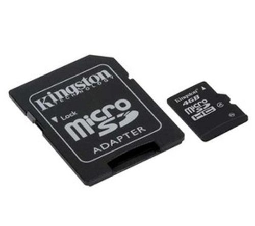 (Kingston 8GB Class 4 MicroSDHC Card Flash Memory with SD Adapter SDC4/8GB)