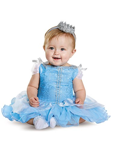 Disguise Baby Girls' Cinderella Prestige Infant Costume, Blue, 6-12 -