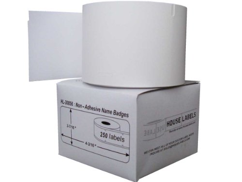 Houselabels HL-30856 Dymo-Compatible Non-Adhesive Name Badges, 250 Badges per (Non Adhesive Name Badges)