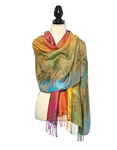 Super Soft Luminous Print Pashmina Shawl Wrap Scarf Large 70