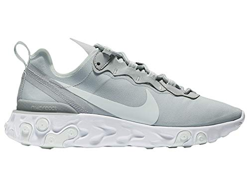 Nike Women's React Element 55 Running Shoes (8.5, Wolf Grey/Ghost Aqua/White) ()