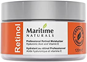 Maritime Naturals  Retinol Moisturizer for Face - Hyaluronic acid and vitamin A - super anti aging skin cream