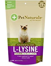 Pack of 4 x Pet Naturals of Vermont L-Lysine for Cats Chicken Liver - 60 Chewables