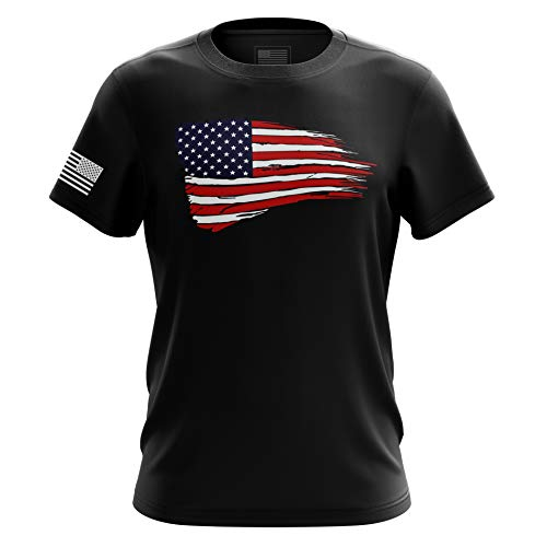 The Fighting Forces American Flag Military Army Mens T Shirt (American Flag, XXX-Large)
