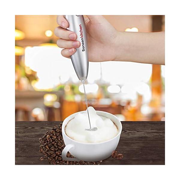 Espumador de leche de Bonsenkitchen   Letras y Latte - Libros en español y café
