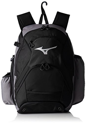 Mizuno Softball Backpack (Mizuno 360265.9190.01.0000 MVP Backpack One-Size GREY-BLACK)
