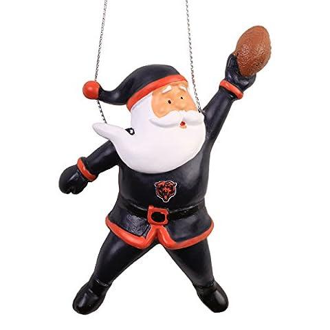 Chicago Bears 2015 Action Santa Ornament - Chicago Bears Christmas Ornament