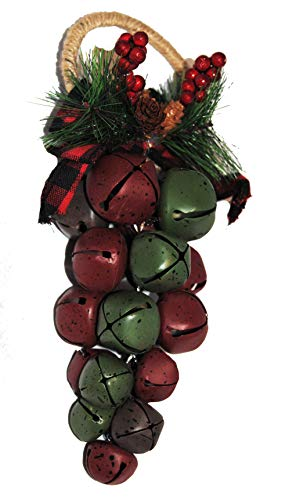 Changing Seasons Christmas Cluster Jingle Bell Door Knob Decoration (Multi-Colored)