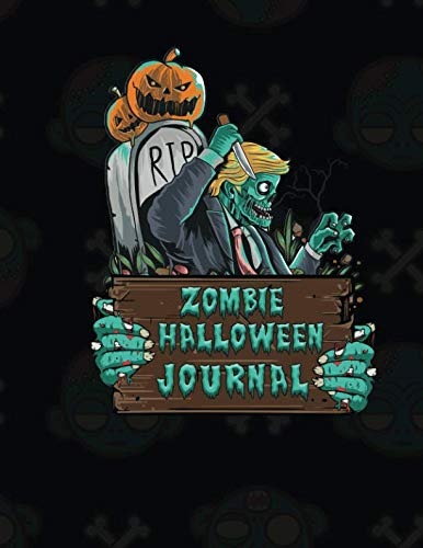 Zombie Halloween Journal: Color Pages Notes ()