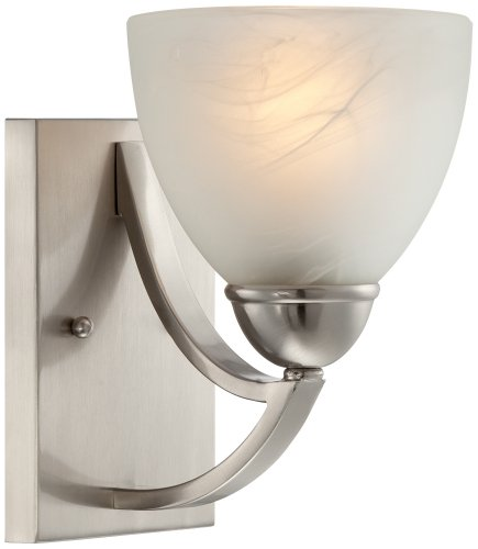"Possini Euro Milbury Marbleized Glass 9"" High Wall Sconce"