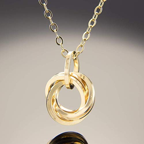 20 Inch Square Knot Pendant Necklace in 14K Yellow Gold Fill