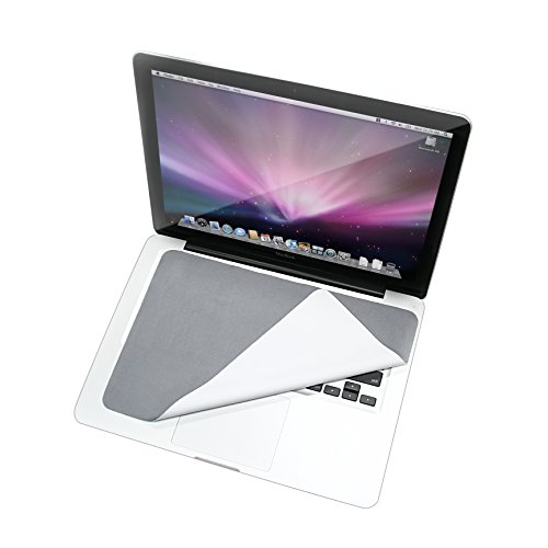 Premium 3 in 1 Microfiber Laptop Protector for Macbook and PC, Retina Screen Cleaner, Anti Scratch Keyboard Cover Non Slip Mouse Pad, for any 13 in, 13.3 in, 13.5 in Screen (Cool Gray)