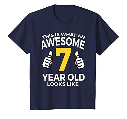 Kids 7th Birthday Gift T Shirt for Awesome 7 Year Old Boys (Birthday Message To A 7 Year Old Son)