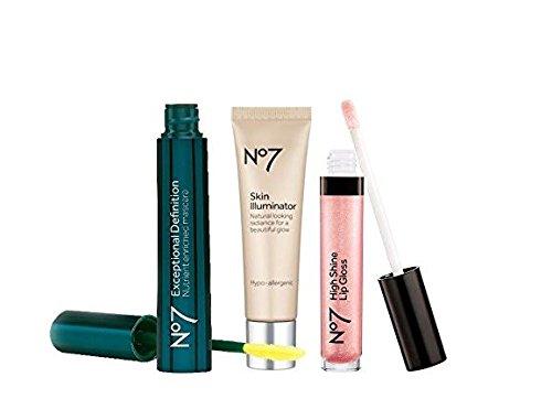 Boots No7 Protect & Perfect Intense Advanced Night Cream | No7 Beautiful Skin Hot Cloth Cleanser | No7 High Shine Lip Gloss rose (Bundle (Definition Lip Gloss)