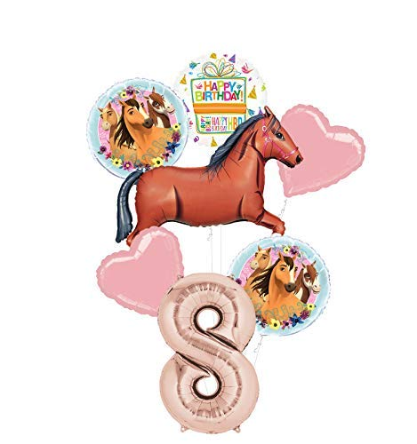 Mayflower Products Spirit Riding Free Party Supplies 8th Birthday Brown Horse Balloon Bouquet Decorations