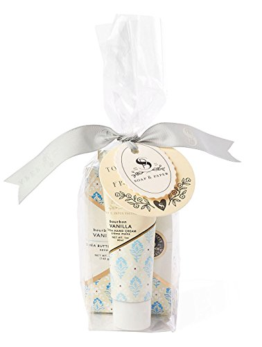 Soap & Paper Factory Block Party Bourbon Vanilla Hand Cream & Soap Gift Set