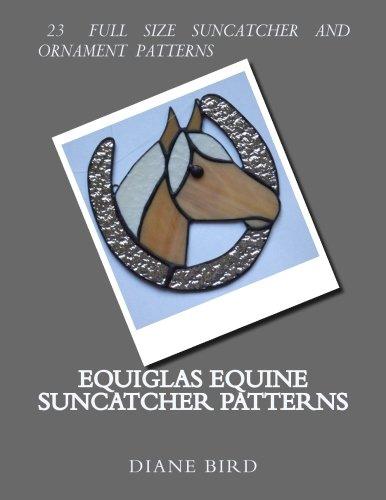 Amazon Equiglas Equine Suncatcher Patterns Equiglas Stained