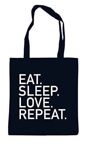 Eat Sleep Love Repeat Bag Black
