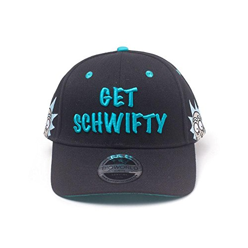 Embroidered Talla and Bill amp; única Negro Rick Get Morty de Rick Cap Black Morty Adulto Béisbol Unisex Gorra Schwifty Curved Black tXtHw